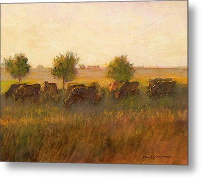 Cows1 Metal Print by J Reifsnyder