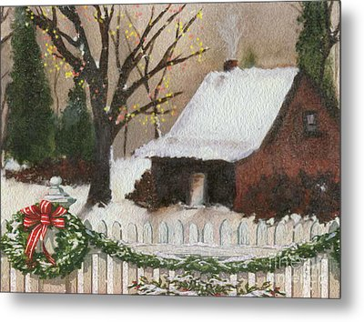 Cozy Cottage Metal Print by Cheryl Young