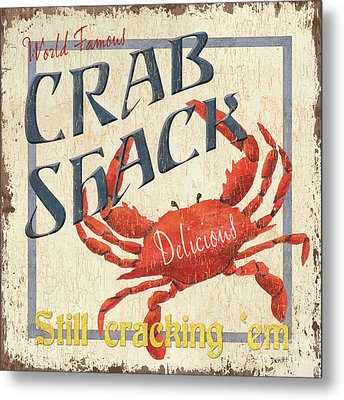 Crab Shack Metal Print by Debbie DeWitt