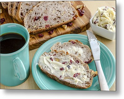 Cranberry Walnut Bread Metal Print by Teri Virbickis