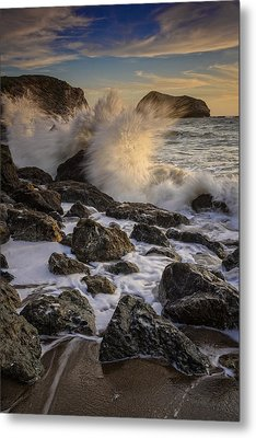 Crashing Sunset Metal Print by Rick Berk