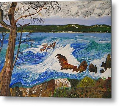 Crashing Wave Metal Print by Eric Johansen
