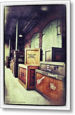 Crates And Crates Metal Print by Gerry Robins