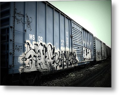 Crazy Train Metal Print by Amanda St Germain
