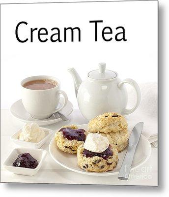 Cream Tea Metal Print by Colin and Linda McKie