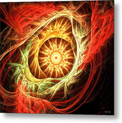 Creation Of Sun Metal Print by Lourry Legarde