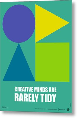 Creative Minds Poster Metal Print by Naxart Studio