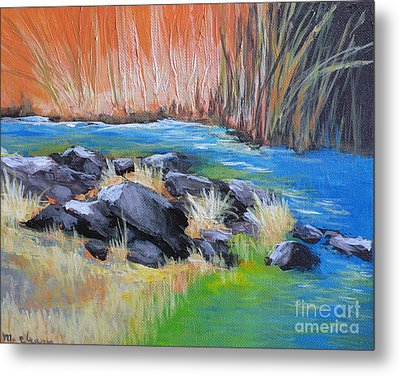 Creekside Metal Print by Melody Cleary
