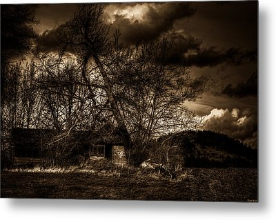 Creepy House One Metal Print by Derek Haller
