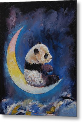 Crescent Moon Metal Print by Michael Creese