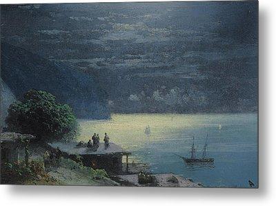 Crimean Coast By Moonlight Metal Print by Ivan Konstantinovich Aivazovsky