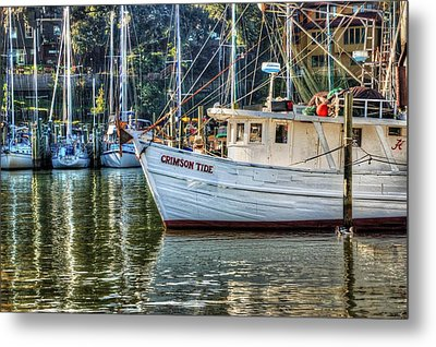 Crimson Tide In The Sunshine Metal Print by Michael Thomas