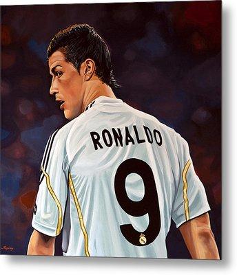 Cristiano Ronaldo Metal Print by Paul Meijering