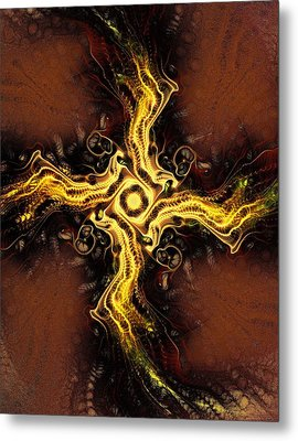 Cross Of Light Metal Print by Anastasiya Malakhova
