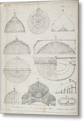 Cross Sections Of Greenhouses Metal Print by British Library