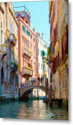 Crossing The Canal Metal Print by Jeff Kolker