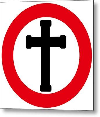Crucifix Metal Print by Alain De Maximy