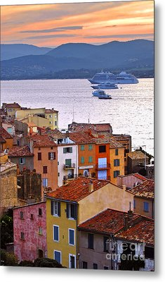 Cruise Ships At St.tropez Metal Print by Elena Elisseeva