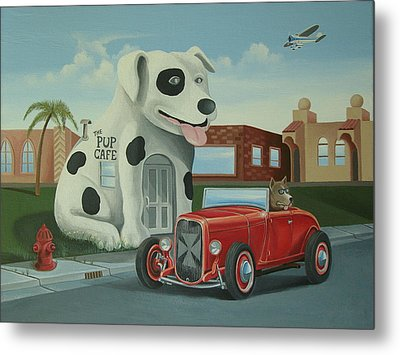 Cruisin' At The Pup Cafe Metal Print by Stuart Swartz