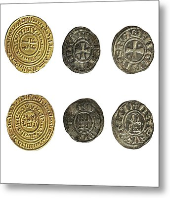 Crusader Kingdom Of Jerusalem Coins Metal Print by Photostock-israel