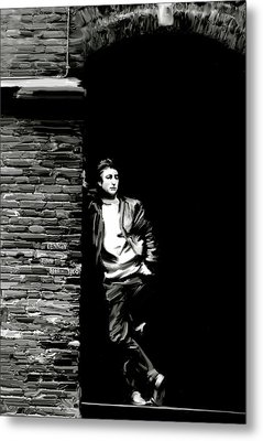 Cry For A Shadow John Lennon Metal Print by Iconic Images Art Gallery David Pucciarelli