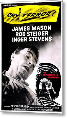 Cry Terror, Us Poster, James Mason, 1958 Metal Print by Everett