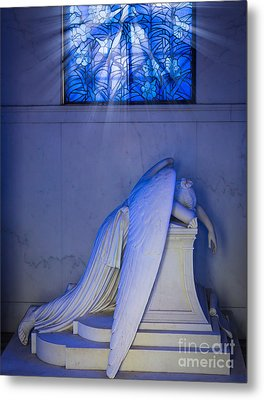 Crying Angel Metal Print by Inge Johnsson