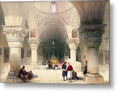 Crypt Of The Holy Sepulchre Metal Print by David Roberts
