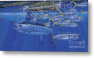 Crystal Blue Off00100 Metal Print by Carey Chen