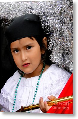Cuenca Kids 438 Metal Print by Al Bourassa
