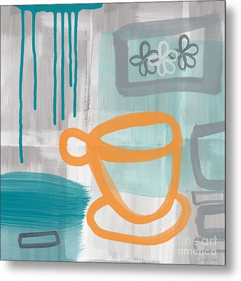 Cup Of Happiness Metal Print by Linda Woods