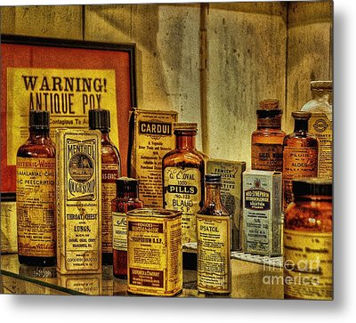 Cure Ya Or Kill Ya Metal Print by Lois Bryan