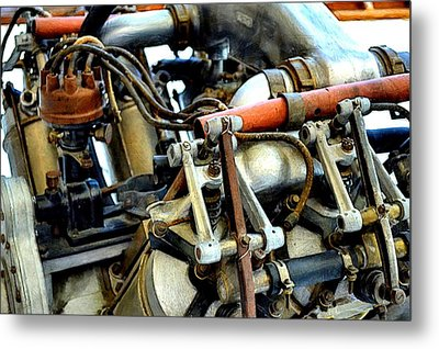 Curtiss Ox-5 Airplane Engine Metal Print by Michelle Calkins
