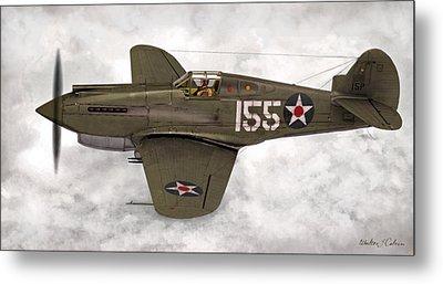 Curtiss P-40 Warhawk Metal Print by Walter Colvin