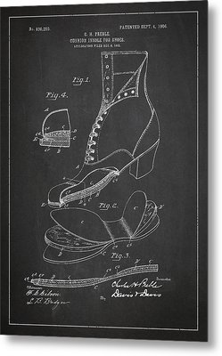 Cushion Insole For Shoes Patent Drawing From 1905 Metal Print by Aged Pixel