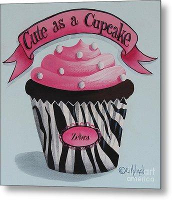 Cute As A Cupcake Metal Print by Catherine Holman