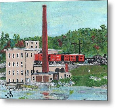 Cutler's Mill - Circa 1870 Metal Print by Cliff Wilson