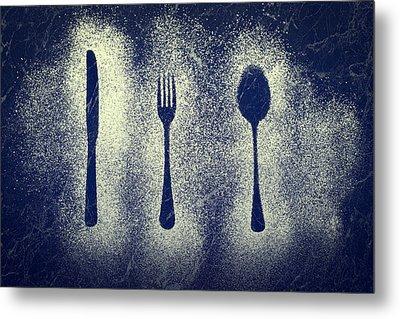 Cutlery Series Metal Print by Amanda Elwell