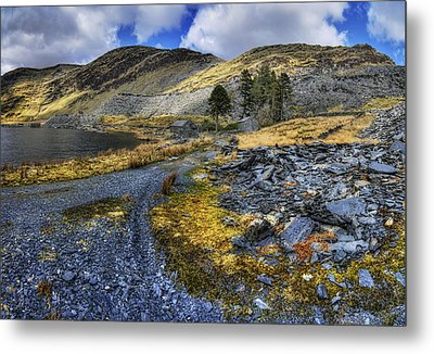 Cwmorthin Landscape Metal Print by Ian Mitchell