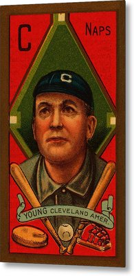 Cy Young 1911 Baseball Card Metal Print by Movie Poster Prints