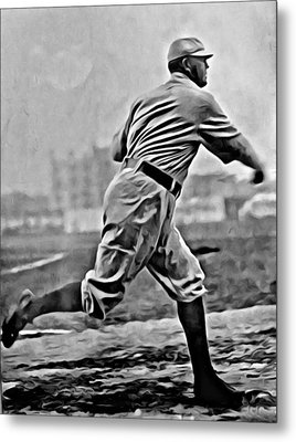 Cy Young Painting Metal Print by Florian Rodarte