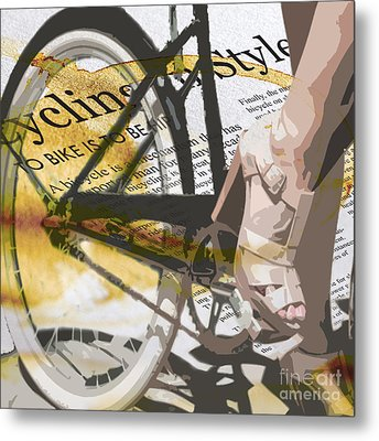 Cycle Chic Metal Print by Sassan Filsoof