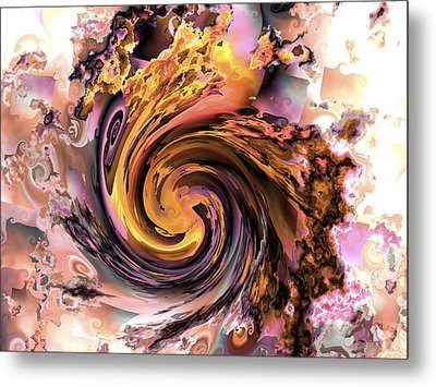 Cyclone Of Color Metal Print by Claude McCoy