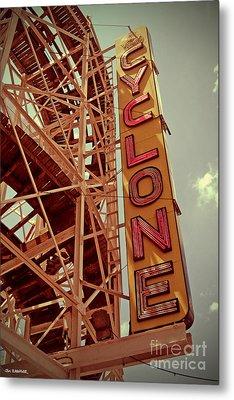 Cyclone Roller Coaster - Coney Island Metal Print by Jim Zahniser