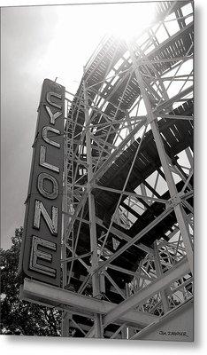 Cyclone Rollercoaster - Coney Island Metal Print by Jim Zahniser
