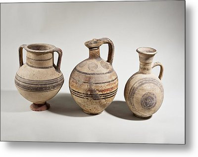 Cypriot Terracotta Amphora Metal Print by Science Photo Library