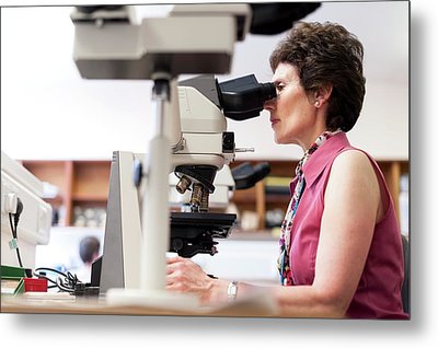 Cytology Laboratory Metal Print by Aberration Films Ltd