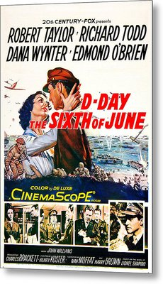 D-day The Sixth Of June, Us Poster Metal Print by Everett