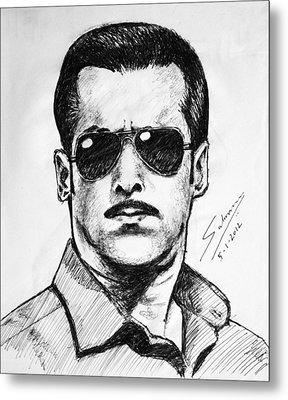 Salman Khan Metal Print by Salman Ravish