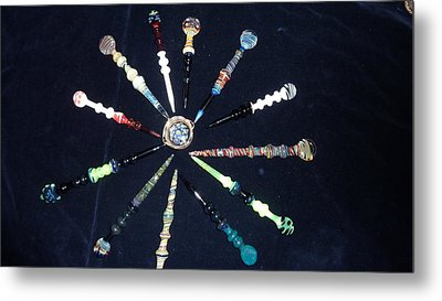 Dabbers And A Dish Metal Print by Glass Dabber